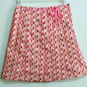 J. Crew Pink Floral Skirt (2)